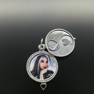 """Кулон  """"Всегда Вместе"""" из серебра 925 пробы с фото"""