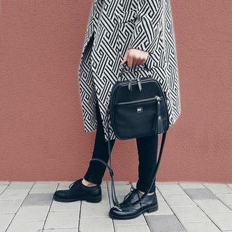 Сумка жіноча Malva . Черная кожаная сумка . Женская сумка через плече .