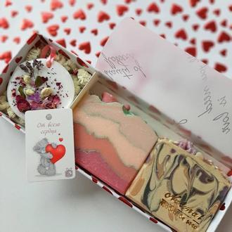 Подарочный набор, Натуральное мыло и аромасаше