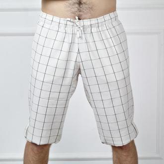 Чоловічі літні шорти з натурального льону MEN LINEN Roll-Up SHORTS