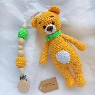 Тримач для соски, Іграшка ведмедик