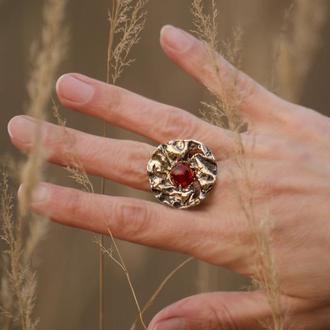 Срібний перстень з сердоліком, авторське незвичайне кільце