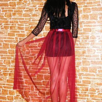 тюлевая юбка хвост, юбка пачка, юбка шлейф