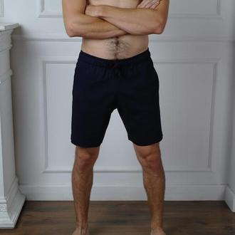 Мужские летние короткие шорты из натурального льна