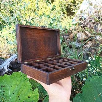 Шкатулка органайзер для мужских сережек