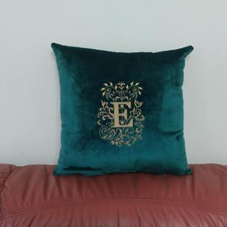 Подушка подарок с монограммой