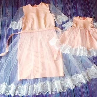 Праздничные платья мама дочка