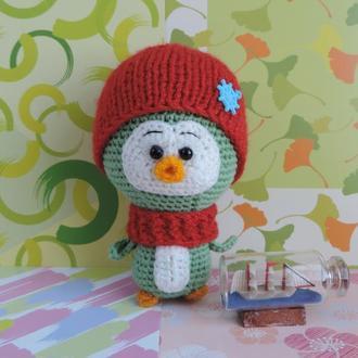 Пингвиненок Энди мягкая вязаная игрушка