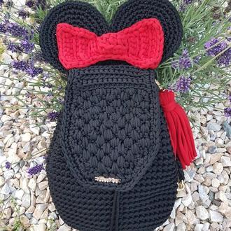 Детский рюкзак Микки Маус, Минни маус, вязанный детский рюкзак.Киев