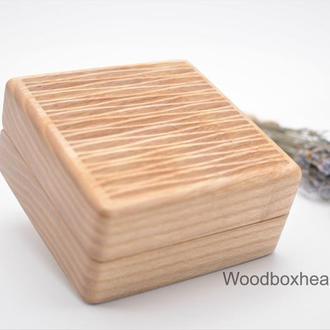 Деревянная шкатулка для украшений, амулета, подвески