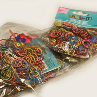Резинки для плетения браслетов набор 12 пачек