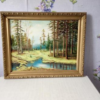 Картина маслом Пейзаж Художник середины 20 столетия