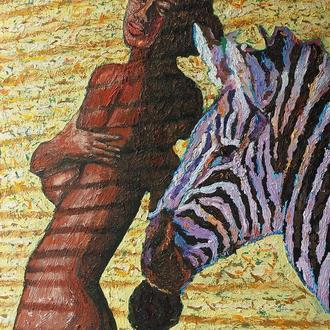 """Картина """"Африканка"""" 45*55 см, холст, масло"""