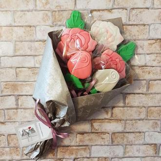 Букет из пряников, розы