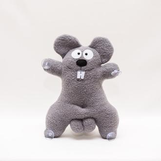 Авто игрушка VKmade  Мышка серая  на присосках 30 см