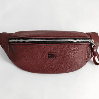 Поясна сумка . Стильная кожаная бананка, небольшая посная сумка, сумка на пояс