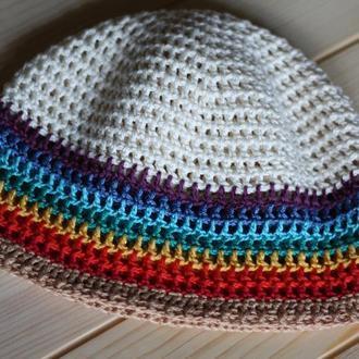 Летняя шапка Радуга