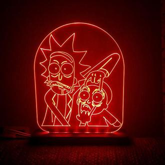 Светильник Ночник Рик и Морти Rick and Morty 2