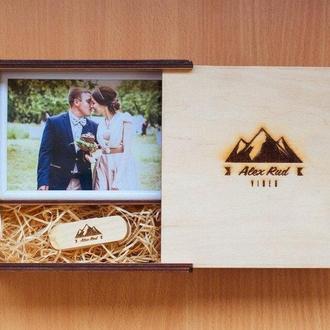 Деревянная подарочная упаковка для фоторамок