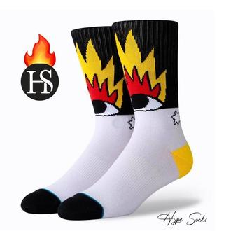 Стильные носки «Огонь и глаза» от HypeSocks