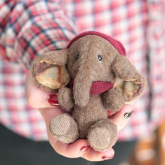 """Игрушки ручной работы """"мамонтята"""" в стиле Teddy"""