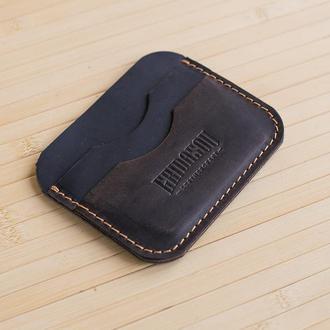 Кардхолдер из натуральной кожи Industrial темно коричневый