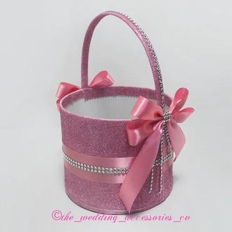 Свадебная корзинка (розовая)