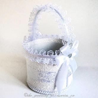 Свадебная корзинка (белый)