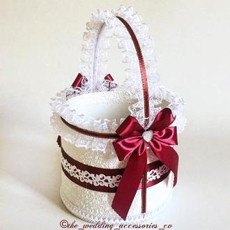 Свадебная корзинка (марсала)