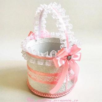 Свадебная корзинка (розовый)