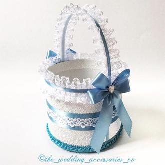 Свадебная корзинка (голубой)