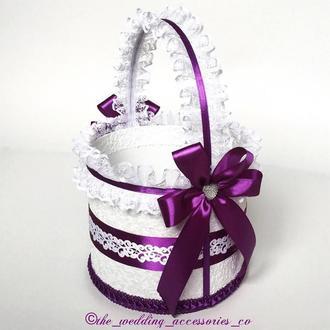 Свадебная корзинка (темно-фиолетовый)