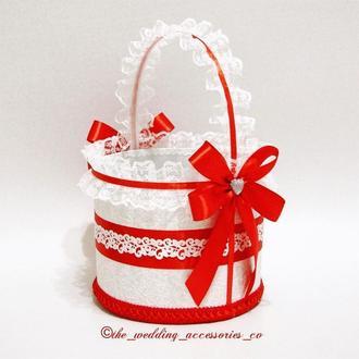 Свадебная корзинка (красный)