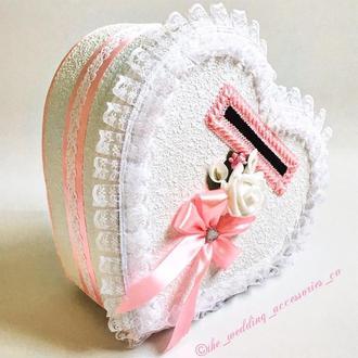 Свадебная казна для денег (розовый)