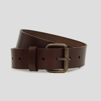 Коричневый мужской кожаный ремень от écorce (écorce man leather belt)