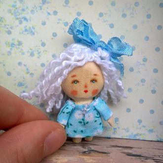 Мини-кукла из дерева /4.5 см/