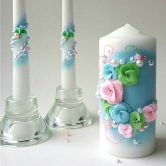 """Свадебные свечи """"Нежный букет"""""""