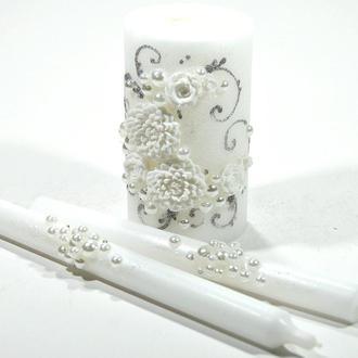 "Свадебные свечи ""Хризантема"""