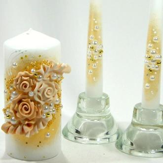 """Свадебные свечи """"Розы"""""""