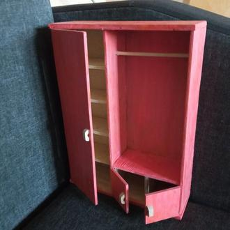 Шкаф для Барби. Мебель для кукол Барби