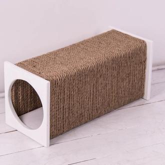 Когтеточка (дряпка) Pets Lounge TUNNEL White 50х18х18 см