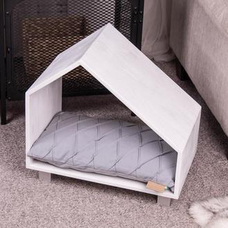 Дерев'яний будиночок для домашніх тварин Pets Lounge Pet House White