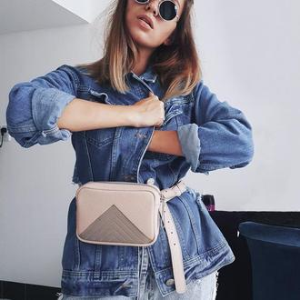 Жіноча сумка на пояс Nonny . Дамская маленькая сумочка на пояс .