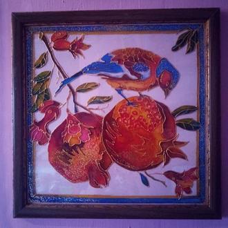 Картина на стекле, витражная роспись