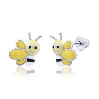 Серьги Веселая пчелка