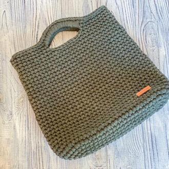 Вязаная сумка Тоут Хаки