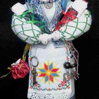Лялька - мотанка «Два талани», наповнена сушеними травами, 38 см
