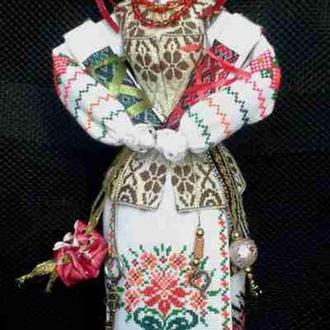 Лялька - мотанка «Два талани», наповнена сушеними травами, 39 см