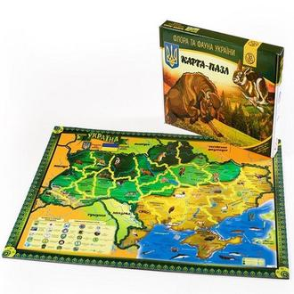Карта-пазл Uteria «Флора и фауна Украины»