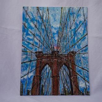 """Картина акрилом """"Нью-Йорк"""""""